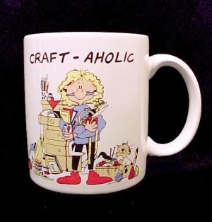 Craft-Aholic Needlework Crafting Coffee Mug Cup China (Image1)