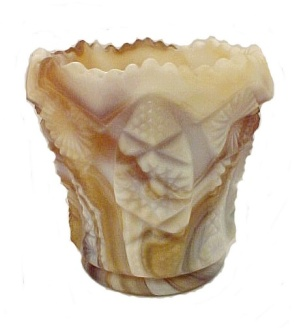 Imperial Caramel Satin Slag Art Glass Toothpick Holder (Image1)