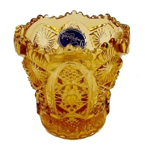 Imperial Art Glass Amberglo No 505 Toothpick Holder