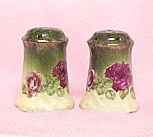 Bavarian Porcelain China Salt & Pepper Shakers Roses