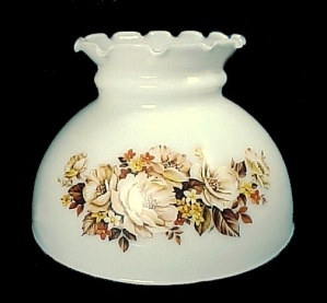 Floral Milk Glass 8 In Student Lamp Shade Table Desk Chandelier