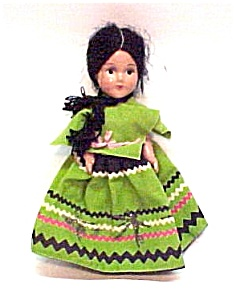 Composition Doll Spanish Mexican Peasant Girl (Image1)