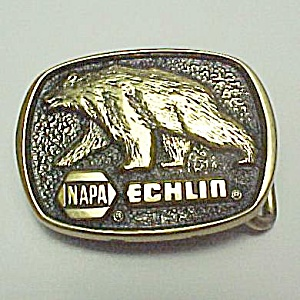 Napa Echlin Solid Brass Belt Buckle Vintage Auto Parts
