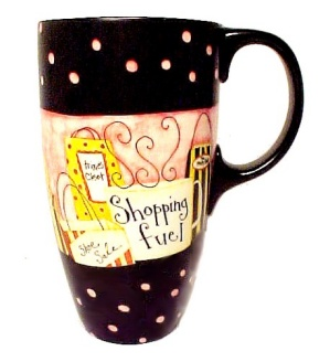 Ladies Shopping Fuel Coffee Mug Ceramic Cup 2009 Dan Dipaolo Art