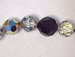 Black Glass Crystal Aurora Borealis Beads 36 in Beading (Image1)