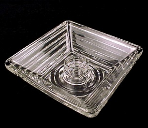 Manhattan Square Candle Holder Anchor Hocking Glass (Image1)