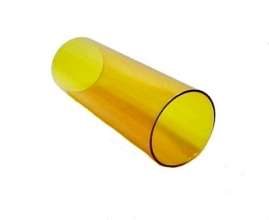Cylinder 2 3/4 X 7 Tube Light Lamp Shade Yellow Amber Glass Candle  (Image1)