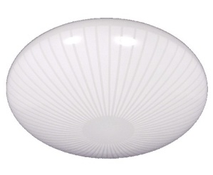 White Glass Ceiling Fan Light Shade Stripe Pan 7 1/2 Ft X 3 1/8 X 10