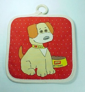 Hot Pad Kent Pet Foods Feeds Advertising Vintage Kitchen Duke Dog