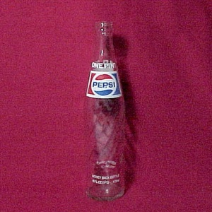16 Oz. Pepsi Cola Soda Pop 1 Pt Drink Beverage Bottle One Pint