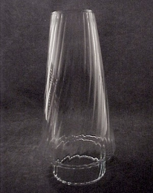 Diagonal 3 X 8.5 Clear Glass Kerosene Oil Lamp Chimney (Image1)