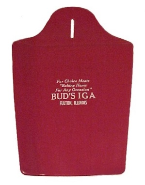 Bud's IGA Fulton Illinois IL Litter Bag Advertising Premium Grocery  (Image1)