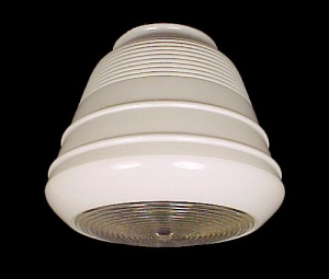 Art Deco Glass Ceiling Fixture Light Globe 4 X 7 Shade (Image1)