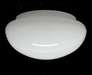 White Glass Flush Mount Ceiling Light Pan 5 3/4 X 3 3/4 X 7 1/2 Shade (Image1)