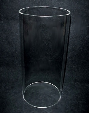 Cylinder 2 1/8 X 4 9/16 Tube Glass Light Lamp Shade Candle Holder (Image1)