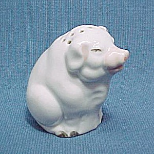 German Pig Piggy Salt Pepper Shaker Porcelain Germany