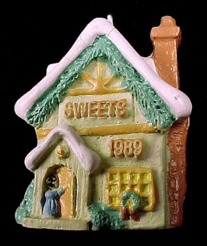 1989 Hallmark Miniature Keepsake Ornament Old English Village Sweets