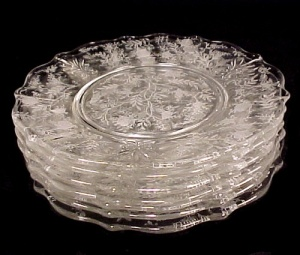 Fostoria CHINTZ Salad Plate Elegant Depression Glass (Image1)