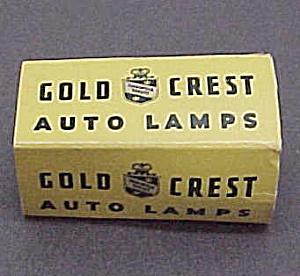 Vintage Gold Crest Auto Automobile Lamp Light Bulb 6-8V (Image1)