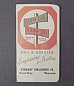 1948 Farm-Oyl Pocket Ledger Tractor Grease Advertising (Image1)
