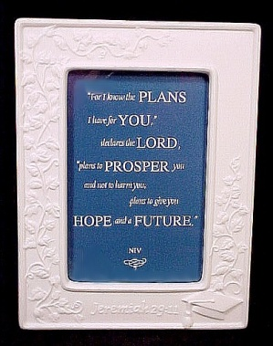 Graduation Porcelain Photo Picture Frame NEW Ornate (Image1)