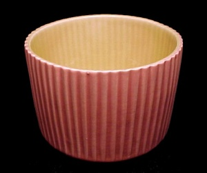 Red Wing Peach Yellow Vert Rib 5 In Planter 1546 Vase