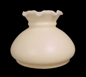 AS IS Lamp Shade Milk Glass Ivory Spray 6 in Student Desk Table  (Image1)