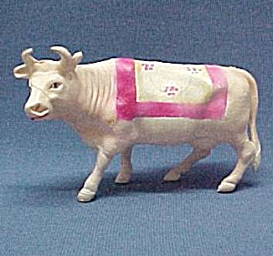 Celluloid Cow Vintage Plastic Toy Farm Animal Bovine (Image1)