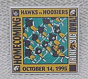 '95 University of Iowa Hawkeyes Football Homecoming Pin (Image1)