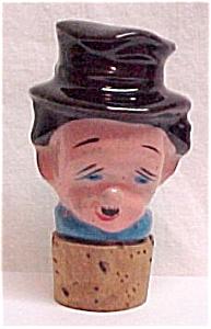 Ceramic Bottle Decanter Stopper Man Toby (Image1)