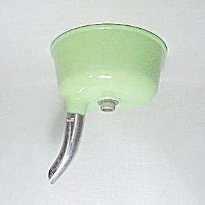 Vintage Electric Mixer Juicer Attachment Jadite Glass