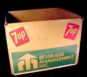 7 Up Seven 7up Soda Pop Cola Advertising Crate Vintage Uncola