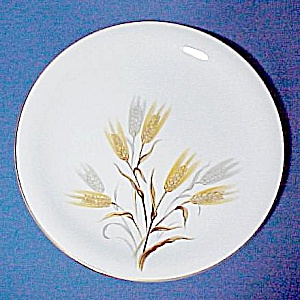 Noritake China Wheaton 10.5 Dinner Plate Gold Silver Wheat Vintage (Image1)