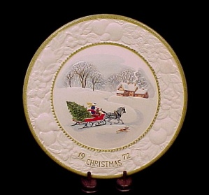 Metlox Poppytrail 1972 Collector Plate Jingle Bells Songs Of Christmas
