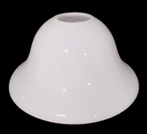 White Cased Glass Neckless Fixture Light Shade Chandelier Fan Sconce (Image1)