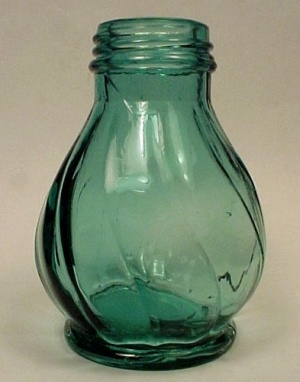 Jeannette Glass Ultra Marine Swirl Salt Pepper Shaker (Image1)