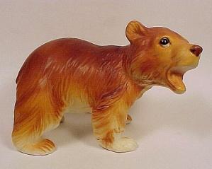 Vintage Porcelain Brown Bear Figurine Sm Figure H7060 (Image1)