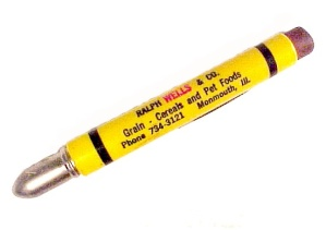 Monmouth Illinois Agriculture Bullet Pencil Ralph Wells