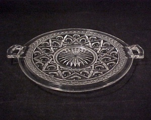 Imperial Depression Glass Cape Cod Small Handled Plate