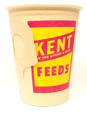 Kent Feeds Vintage Paper Cup 1950s Display Advertising