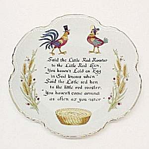 Little Red Rooster & Hen Chicken Collectors Plate Japan (Image1)