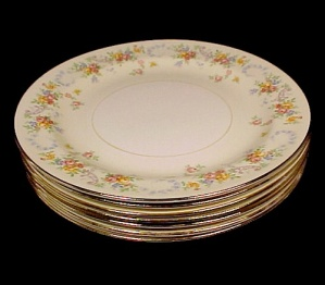 Homer Laughlin China Dubarry 8 Inch Salad Plate