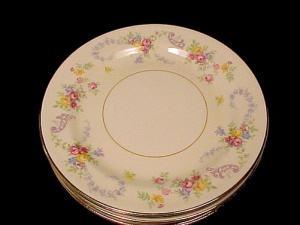 Homer Laughlin China Dubarry 6 Inch Bread Plate