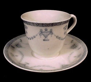 Johnson Brothers The Villiers Blue Demitasse Cup & Saucer (Image1)