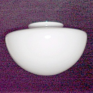 White Glass Schoolhouse 6 X 7.5 X 12 Globe Light Shade Ceiling Pendant (Image1)