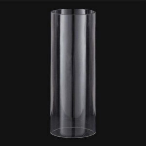 Cylinder 4 1/2 X 7 Tube Light Lamp Shade Glass Candle Holder Sconce (Image1)