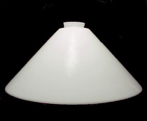 Vianne White Glass Cone Pendant Light Shade 2 1/4 X14 Kitchen Island