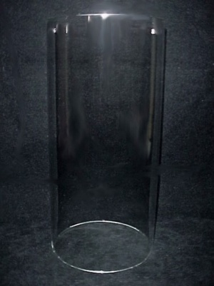 Cylinder 4 9/16 in X 9 in Tube Glass Light Lamp Shade Candle Holder (Image1)