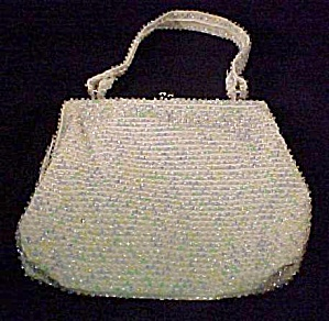 Lumured Pastel Bead Beaded Bag Purse Handbag Vintage (Image1)