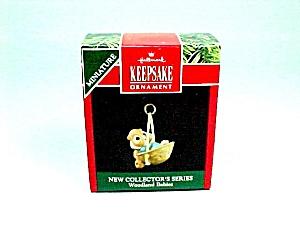 1991 Hallmark Christmas Tree Ornament Miniature Woodland Babies 1st (Image1)